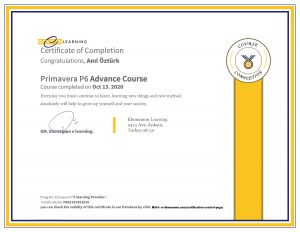 Anıl Öztürk Primavera Certification